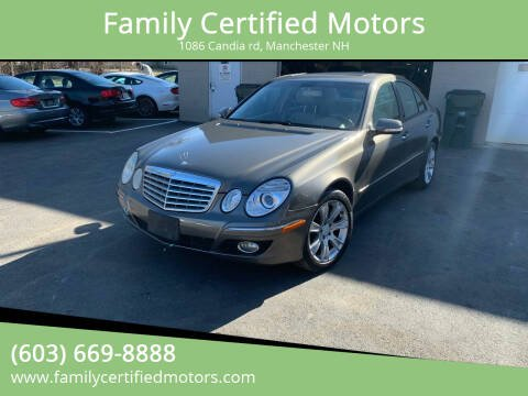 2009 Mercedes-Benz E-Class for sale at Family Certified Motors in Manchester NH