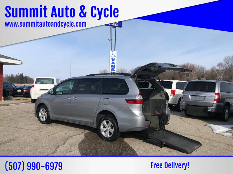 2015 Toyota Sienna for sale at Summit Auto & Cycle in Zumbrota MN