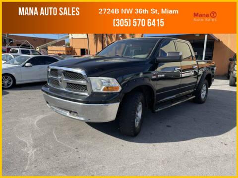 2010 Dodge Ram Pickup 1500 for sale at MANA AUTO SALES in Miami FL