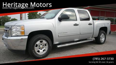 2013 Chevrolet Silverado 1500 for sale at Heritage Motors in Topeka KS