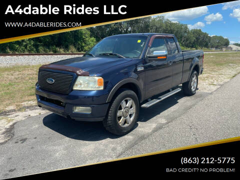 2004 Ford F-150 for sale at A4dable Rides LLC in Haines City FL