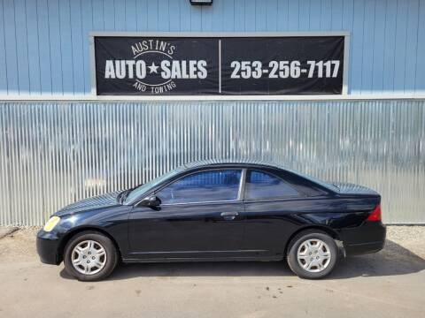 2001 Honda Civic for sale at Austin's Auto Sales in Edgewood WA