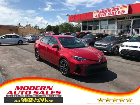 2017 Toyota Corolla for sale at Modern Auto Sales in Hollywood FL