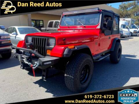 1989 Jeep Wrangler for sale at Dan Reed Autos in Escondido CA