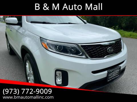 2015 Kia Sorento for sale at B & M Auto Mall in Clifton NJ