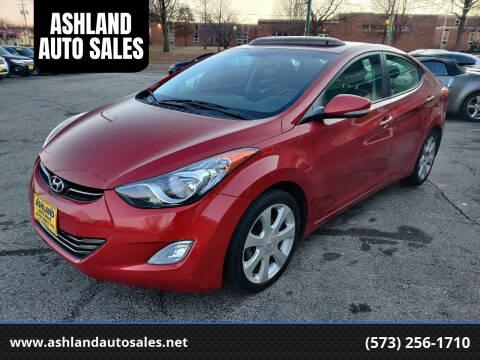 2013 Hyundai Elantra for sale at ASHLAND AUTO SALES in Columbia MO
