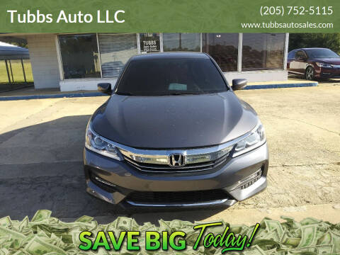 2016 Honda Accord for sale at Tubbs Auto LLC in Tuscaloosa AL