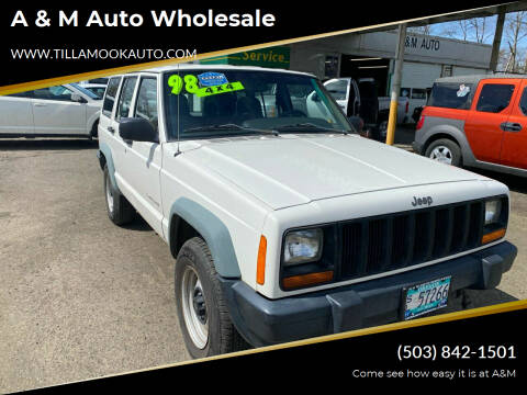 1998 Jeep Cherokee for sale at A & M Auto Wholesale in Tillamook OR