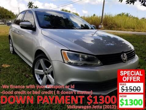 2012 Volkswagen Jetta for sale at AUTO COLLECTION OF SOUTH MIAMI in Miami FL