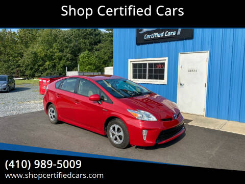 2014 Toyota Prius for sale at Shop Certified Cars in Easton MD
