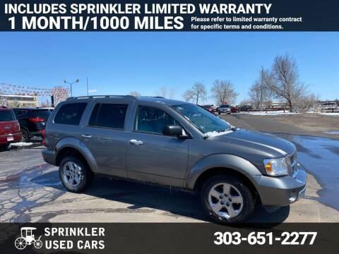 2008 Dodge Durango for sale at Sprinkler Used Cars in Longmont CO
