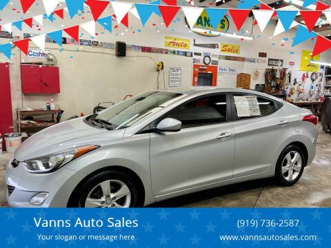 2013 Hyundai Elantra for sale at Vanns Auto Sales in Goldsboro NC
