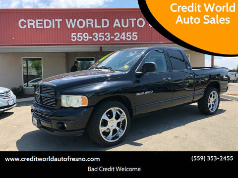 2002 Dodge Ram Pickup 1500 for sale at Credit World Auto Sales in Fresno CA
