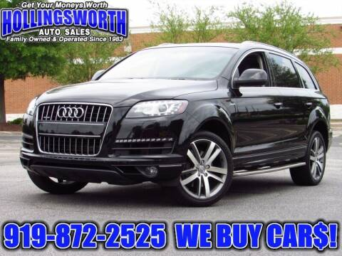 2015 Audi Q7 for sale at Hollingsworth Auto Sales in Raleigh NC
