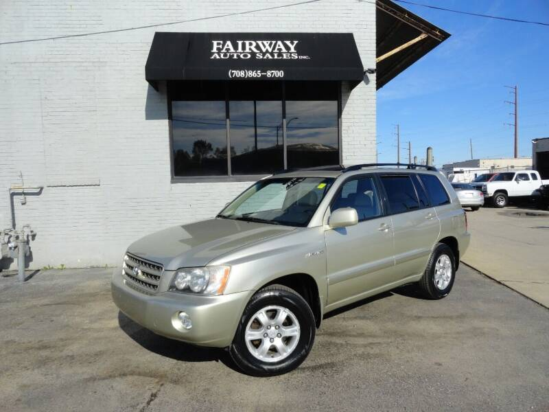 2001 Toyota Highlander for sale at FAIRWAY AUTO SALES, INC. in Melrose Park IL
