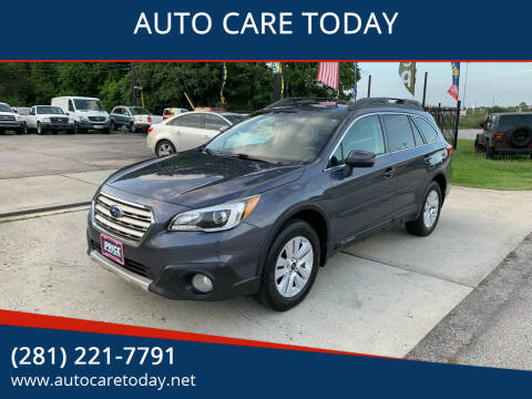 2015 Subaru Outback for sale at AUTO CARE TODAY in Spring TX