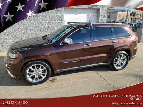 2014 Jeep Grand Cherokee for sale at Motor City Direct Auto Sales & Service in Pontiac MI