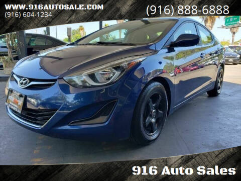 2016 Hyundai Elantra for sale at 916 Auto Sales in Sacramento CA
