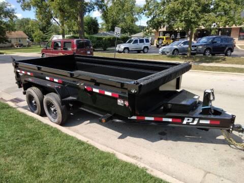 2022 pj low pro 14 ft dump trailer  for sale at CPM Motors Inc in Elgin IL