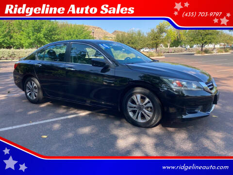 2014 Honda Accord for sale at Ridgeline Auto Sales in Saint George UT