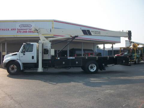 2006 International 4200 Crane Flatbed for sale at Classics Truck and Equipment Sales in Cadiz KY