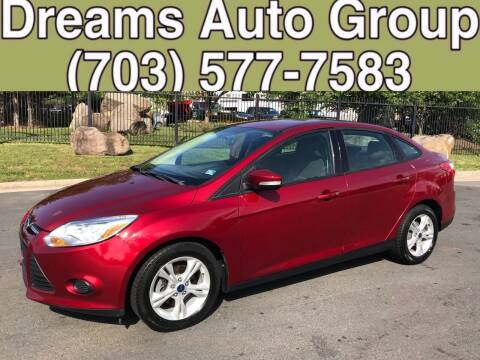 2013 Ford Focus for sale at Dreams Auto Group LLC in Sterling VA