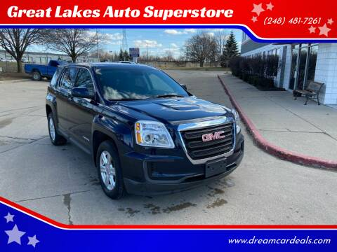 2016 GMC Terrain for sale at Great Lakes Auto Superstore in Pontiac MI