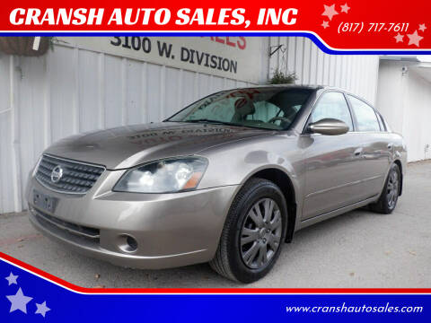 2005 Nissan Altima for sale at CRANSH AUTO SALES, INC in Arlington TX