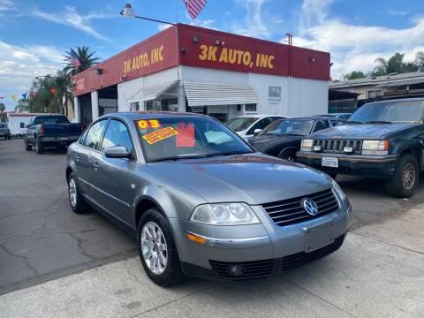 2003 Volkswagen Passat for sale at 3K Auto in Escondido CA