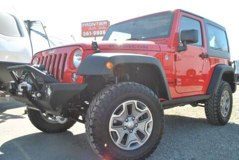 2016 Jeep Wrangler for sale at Frontier Auto & RV Sales in Anchorage AK