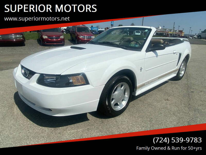 2001 Ford Mustang for sale at SUPERIOR MOTORS in Latrobe PA