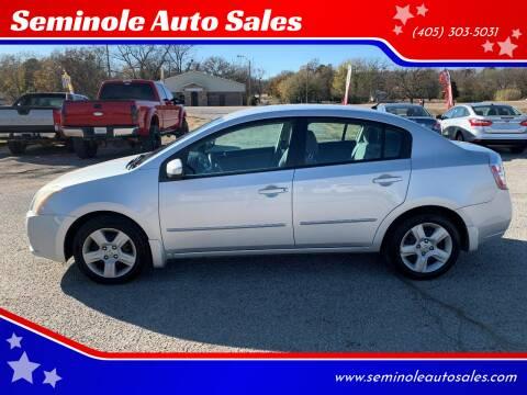 2008 Nissan Sentra for sale at Seminole Auto Sales in Seminole OK