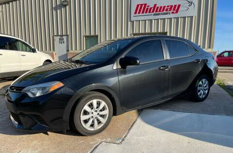 2014 Toyota Corolla for sale at Midway Motors in Conway AR