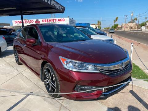 2017 Honda Accord for sale at DESANTIAGO AUTO SALES in Yuma AZ