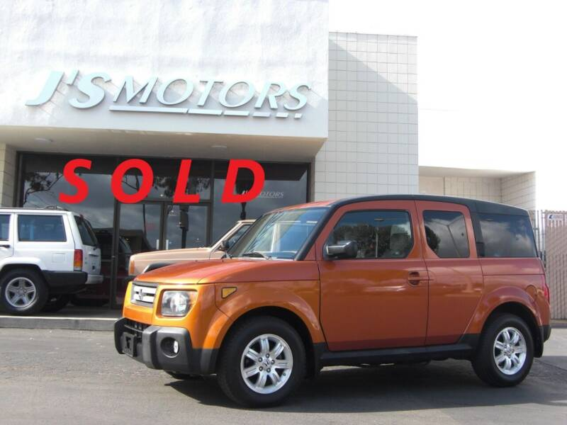 2008 Honda Element for sale at J'S MOTORS in San Diego CA