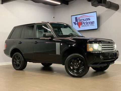 2008 Land Rover Range Rover for sale at Texas Prime Motors in Houston TX