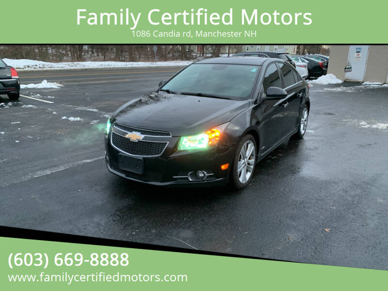 2013 Chevrolet Cruze for sale at Family Certified Motors in Manchester NH