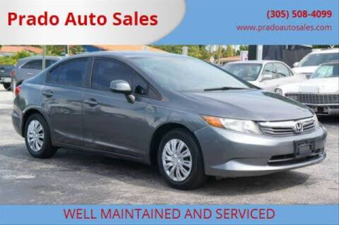 2012 Honda Civic for sale at Prado Auto Sales in Miami FL
