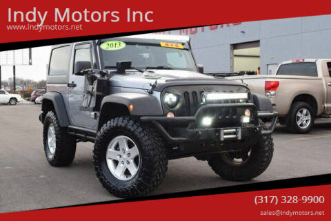 2013 Jeep Wrangler for sale at Indy Motors Inc in Indianapolis IN