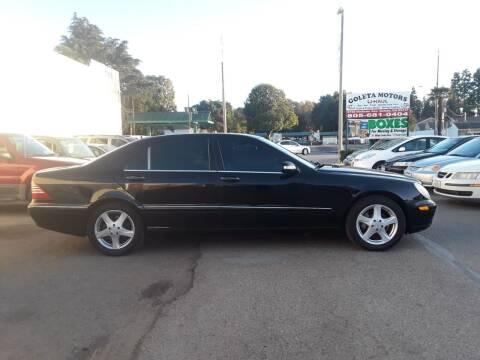 2004 Mercedes-Benz S-Class for sale at Goleta Motors in Goleta CA