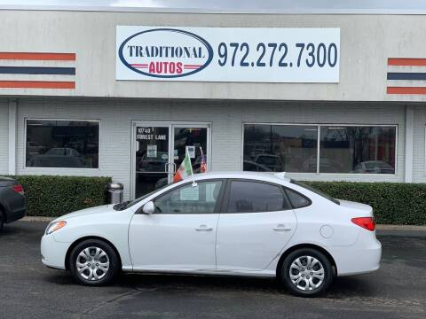 2010 Hyundai Elantra for sale at Traditional Autos in Dallas TX