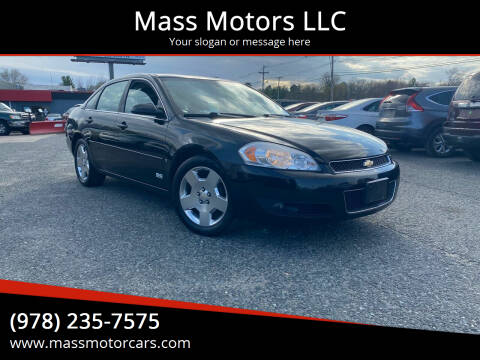 2007 Chevrolet Impala for sale at Mass Motors LLC in Worcester MA