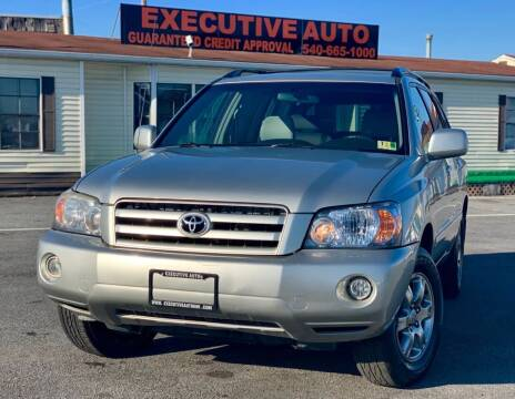 2007 Toyota Highlander for sale at Executive Auto in Winchester VA
