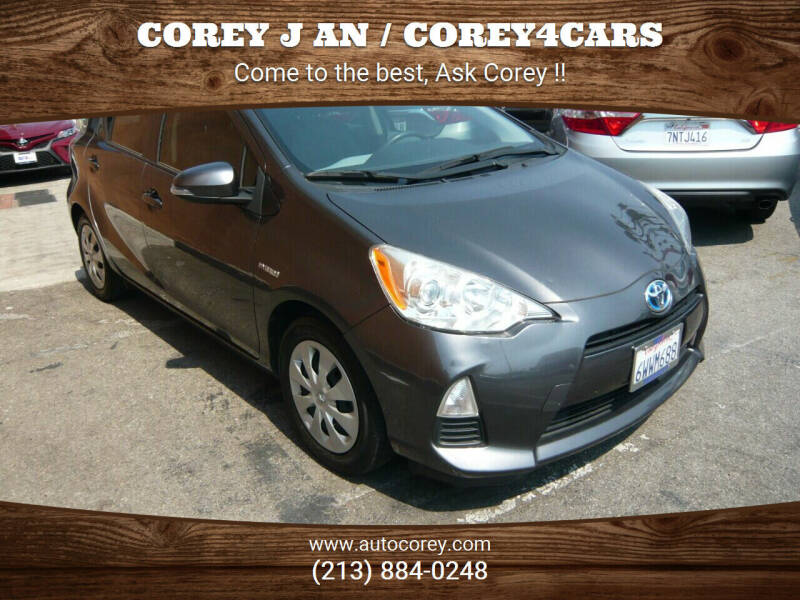 2012 Toyota Prius c for sale at WWW.COREY4CARS.COM / COREY J AN in Los Angeles CA