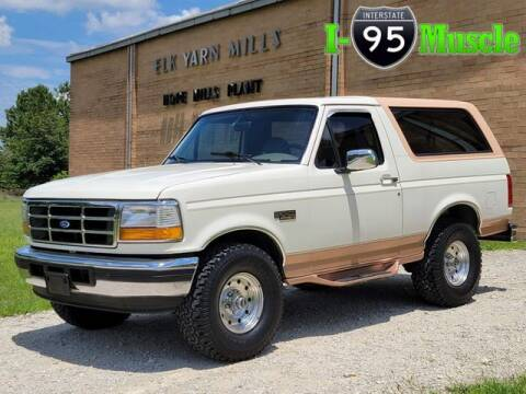 1995 Ford Bronco for sale at I-95 Muscle in Hope Mills NC