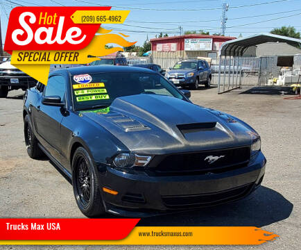 2012 Ford Mustang for sale at Trucks Max USA in Manteca CA