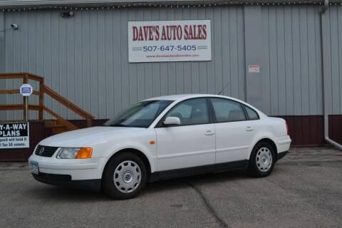 1998 Volkswagen Passat for sale at Dave's Auto Sales in Winthrop MN