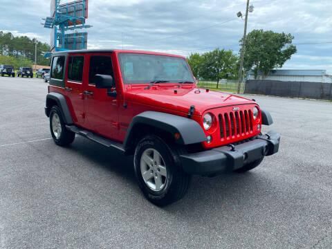 2016 Jeep Wrangler Unlimited for sale at Autoteam of Valdosta in Valdosta GA