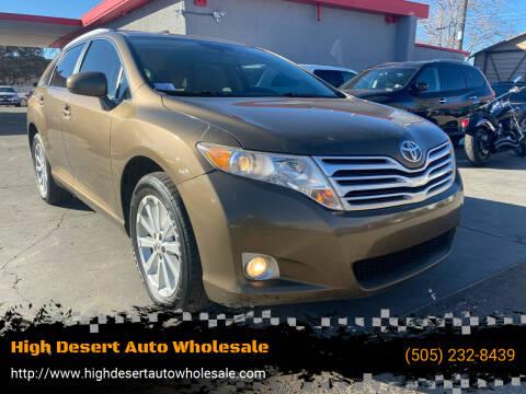 2011 Toyota Venza for sale at High Desert Auto Wholesale in Albuquerque NM
