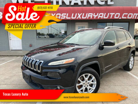 2015 Jeep Cherokee for sale at Texas Luxury Auto in Cedar Hill TX